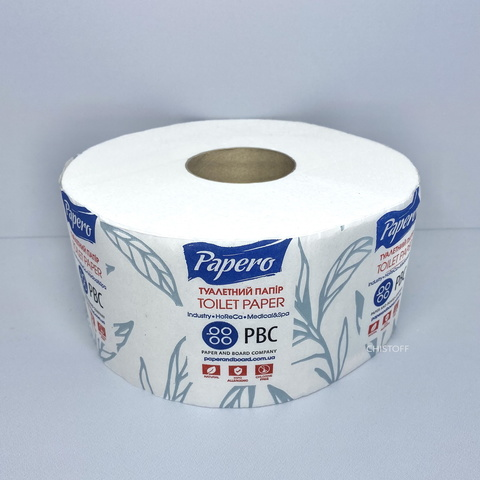 Туалетная бумага Papero Джамбо 2сл. 100 м белая (TJ032)