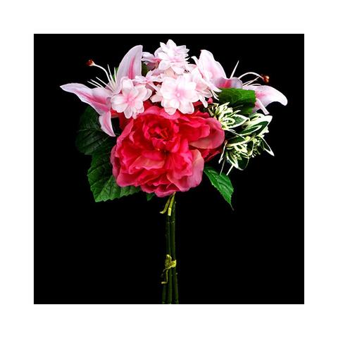 Свежий букет розовый