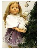 Пелерина - На кукле. Одежда для кукол, пупсов и мягких игрушек.