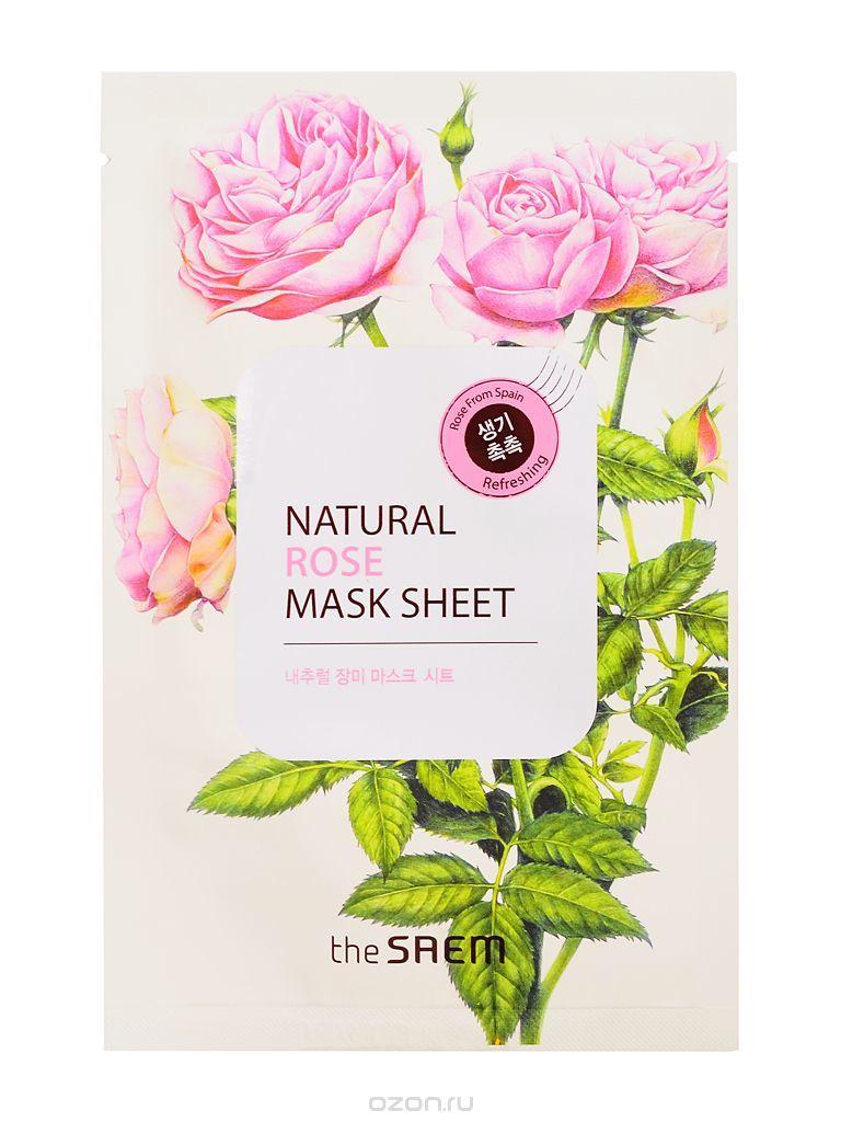 Маска тканевая с экстрактом розы The Saem Natural Rose Mask Sheet
