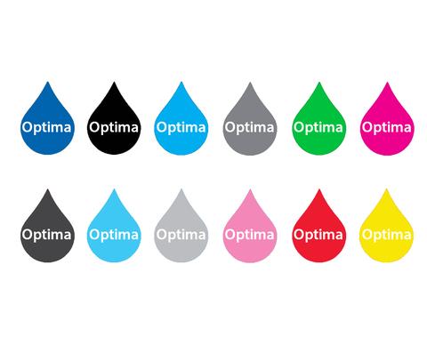 Комплект пигментных чернил Optima для HP 12x250 мл