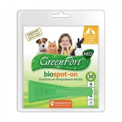 Грин Форт NEO БиоКапли для кошек,кроликов и собак до 10 кг.