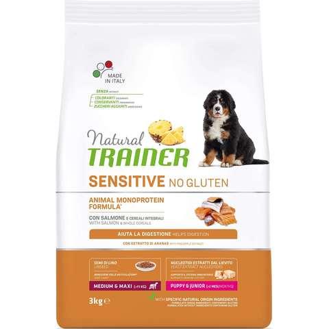 Сухой корм Natural Trainer Sensitive No Gluten Medium&Maxi Puppy&Junior Dog – Salmon 12 кг.