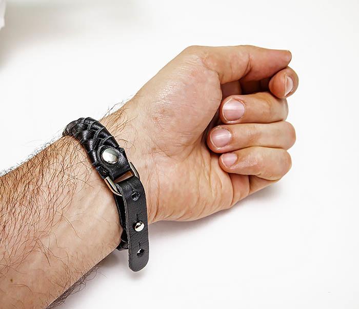 BL807-1 Плетеный браслет ручной работы из натуральной кожи фото 09