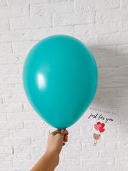Воздушный шар бирюза