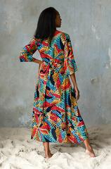 Длинное платье из 100% вискозы