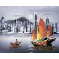 Aлмазная мозаика Ночной Гонконг