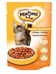 Пауч для кошек Мнямс с курицей в соусе, идеальный баланс