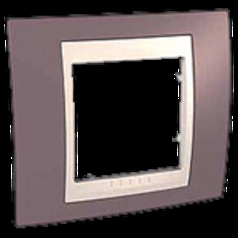 Рамка на 1 пост. Цвет Лиловый/Бежевый. Schneider electric Unica Хамелеон. MGU6.002.576