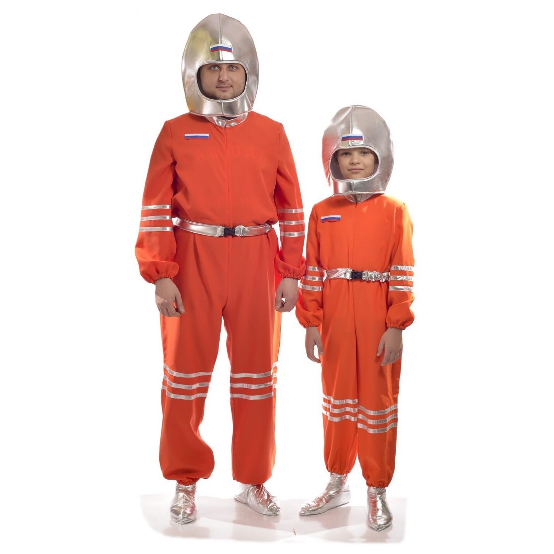 Костюм космонавта в серебристом шлеме взрослый