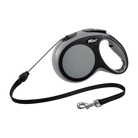 Flexi поводок-рулетка New Comfort M (до 20 кг) трос 8 м (черный/серый)