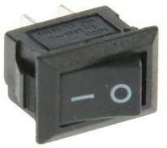 Клавишный выключатель 250В 3А (2с) ON-OFF черный