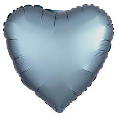 Шар сердце сатин сталь