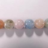 Бусина из бериллов, класс А, шар гладкий 12 мм