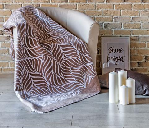 Одеяло байковое Премиум Кофейный орнамент