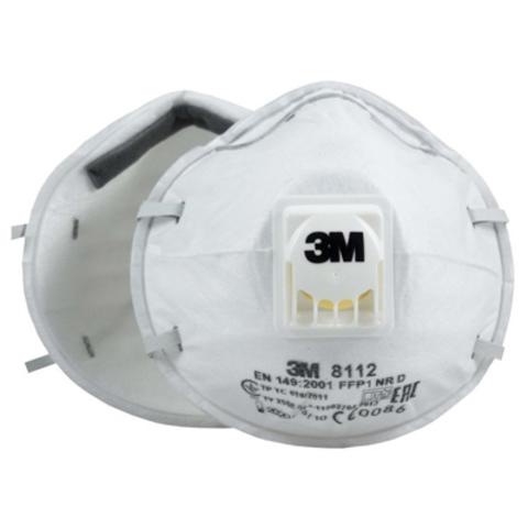 Полумаска фильтрующая противоаэрозольная 3M 8112 с клапаном FFP1