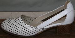 Красивые туфли босоножки Evromoda 101-6 White.