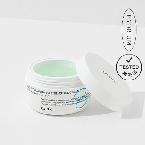 Увлажняющий гель-крем с зелёным чаем и провитамином В5, 50 мл / Cosrx Green Tea Aqua Soothing Gel Cream