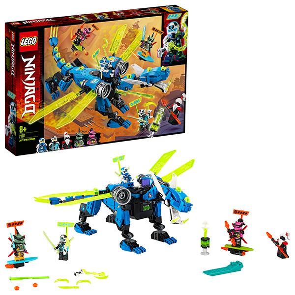 LEGO Ninjago 71711 Конструктор ЛЕГО Ниндзяго Кибердракон Джея