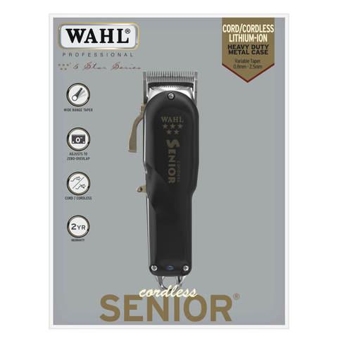 Машинка для стрижки Wahl Senior Cordless, аккум/сетевая, 3 насадки