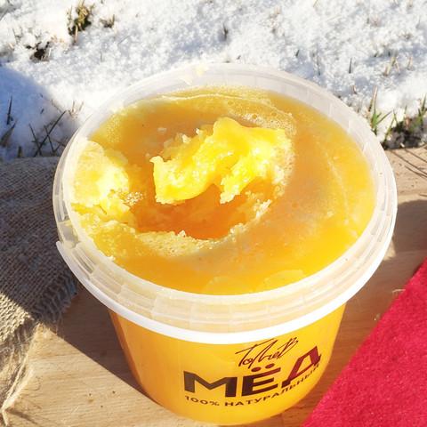 Мёд цветочный середина лета 2020 Ивановка  1 литр (1,4 кг)