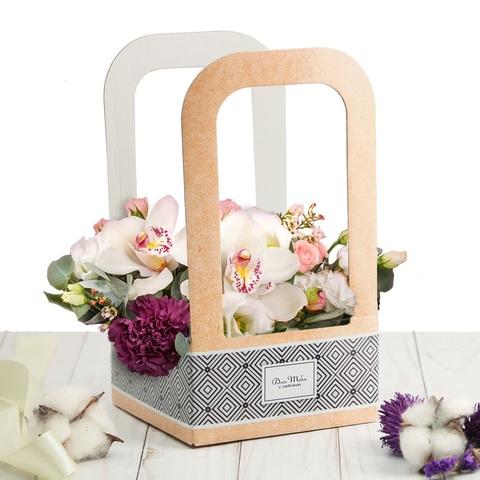 Коробка-переноска для цветов «Для тебя с любовью»