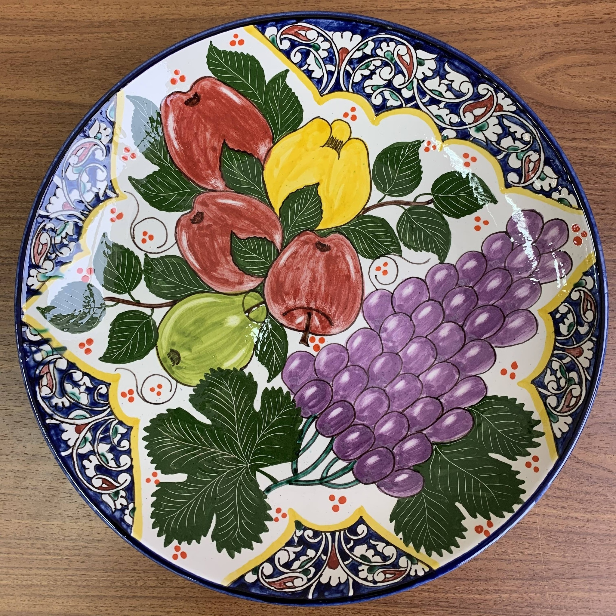 Посуда Ляган ручная роспись виноград 32 см vQMOTTJh1hw.jpg