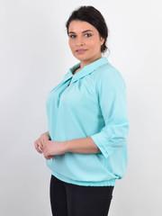 Биата. Женская блузка для больших размеров. Мята.