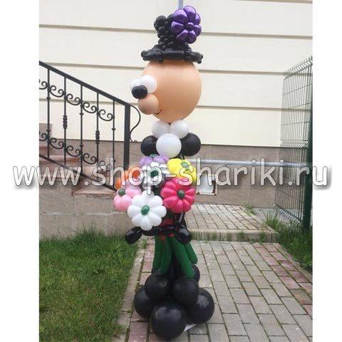 Джентельмен с букетов цветов