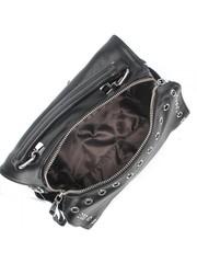 Черная сумка с металлической фурнитурой