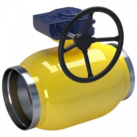 LD КШ.Ц.П.GAS.400.025.П/П.02 Ду400 полный проход с редуктором