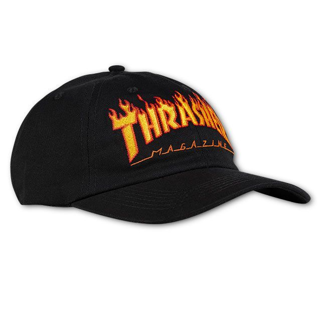 Кепка THRASHER Flame Old Timer Hat (Black)
