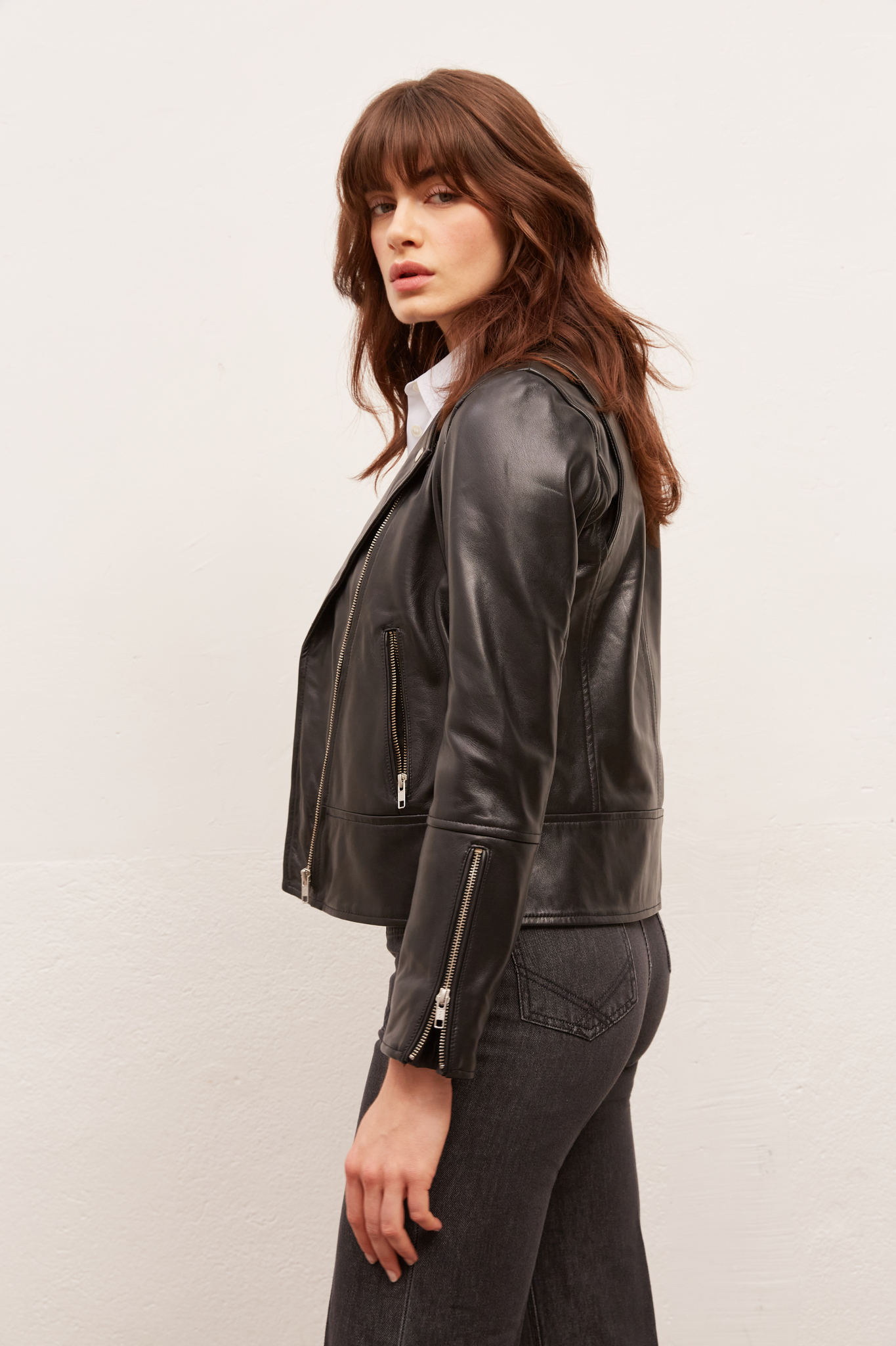 GIULIA - Кожаная куртка в байкерском стиле