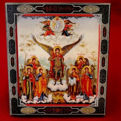 Икона Собор семи Архангелов на дереве на левкасе мастерская Иконный Дом