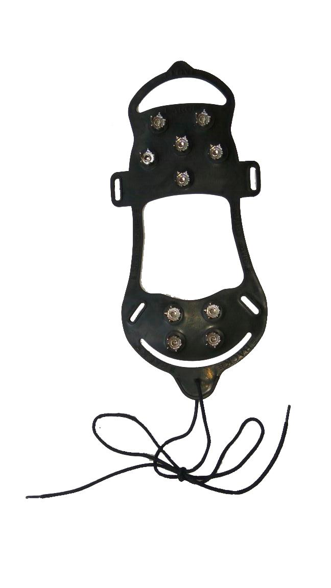 Антигололед «Скалолаз-Хард» шипы звезды, 10 шт с фиксирующим шнурком вокруг стопы