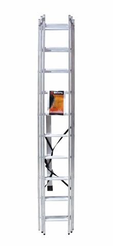 Лестница алюминиевая трехсекционная ВИХРЬ ЛА 3х10