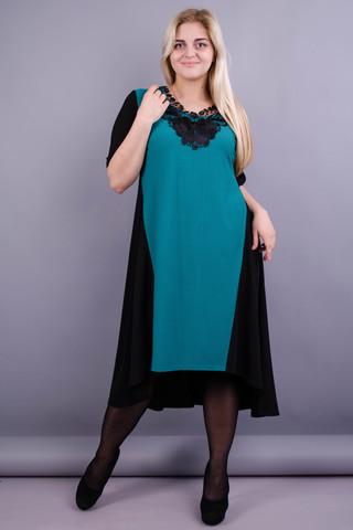 Лазур. Гарна сукня великих розмірів. Бірюза.