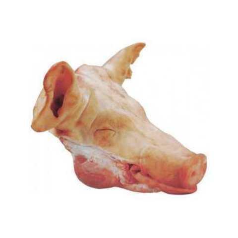 Голова свиная с ушами, с языком