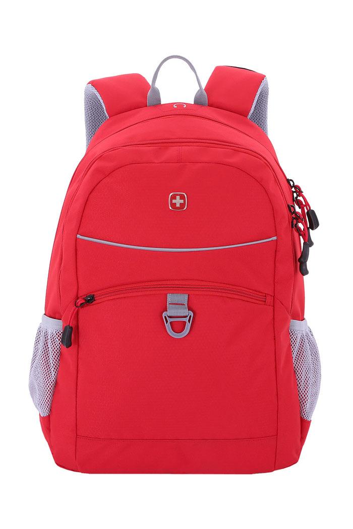 Рюкзак WENGER со светоотражающими элементами, цвет красный/серый, 26 л., 46х33х16,5 см., 2 отделения (6651114408)
