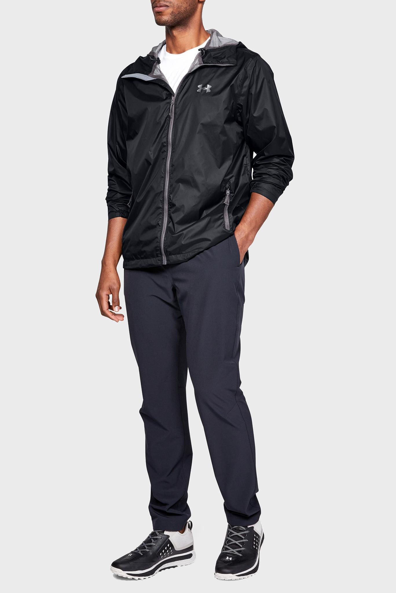 Мужская черная ветровка UA Forefront Rain Jacket Under Armour