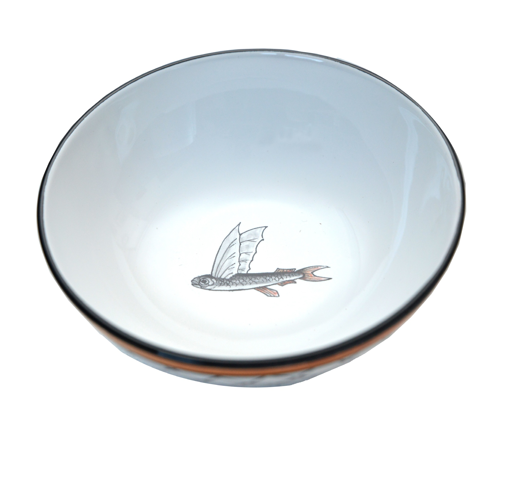 Set 4 bowls Flying Fish collection