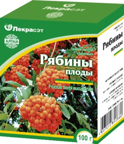 Рябина красная плоды 75 г.