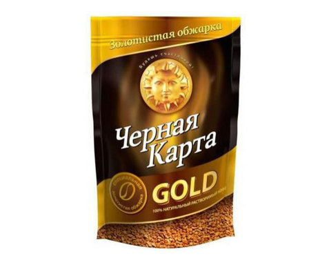 купить Кофе растворимый Черная Карта Gold, 75 г пакет
