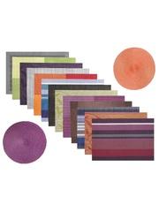 Комплект из 4-х прямоугольных кухонных термосалфеток Dutamel плейсмат салфетка сервировочная - серо-синие полосы DTM-024 45*30 см