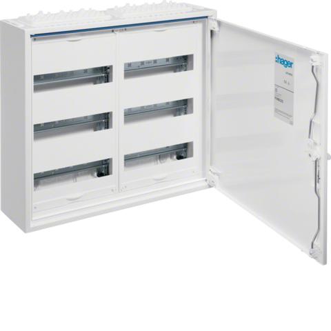 Щиток открытой установки,секционный,с оснасткой,IP44,500x550x161мм (ВхШхГ),одна дверь,RAL9010