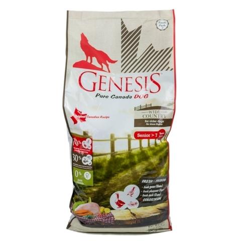 Genesis Pure Canada Wide Country Senior для пожилых собак всех пород с мясом гуся, фазана, утки и курицы 11.79 кг