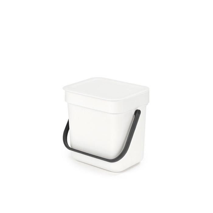 Мусорное ведро Sort & Go (3 л), Белый, арт. 209864 - фото 1