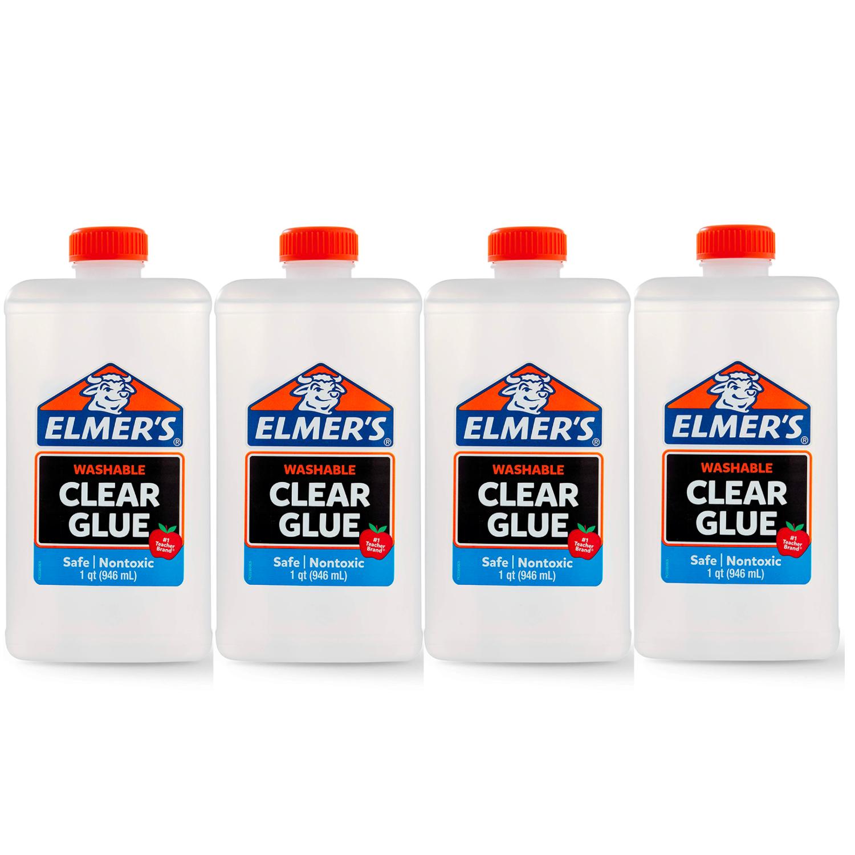 Клей для слайма Elmer's Clear Glue прозрачный 4 х 946 мл