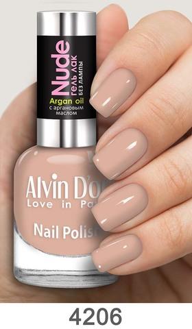 Alvin D`or Лак для ногтей Гель NUDE  тон 4206