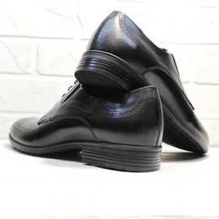 Кожаные туфли на выпускной Ikoc 3416-1 Black Leather.